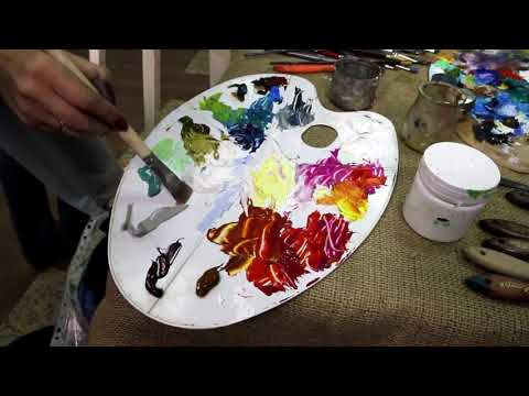 Видеоуроки рисования маслом - видео