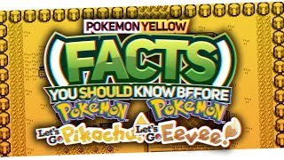 Pokemon Yellow Facts You Need to know For Let's Go Pikachu and Eevee Ft. Protomario
