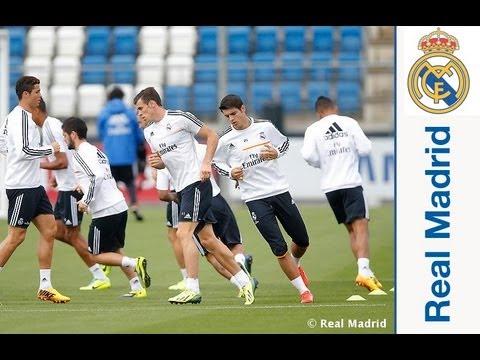 El Real Madrid completó la primera sesión previa al encuentro ante el Copenhague