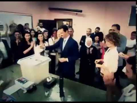 Bashar and Asma al Assad cast their votes for Presidential elections