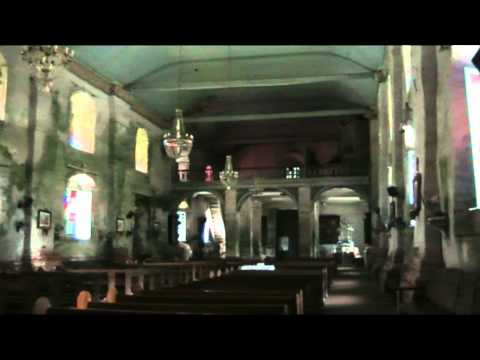 Inside Baclayon Church Bohol Philippines video