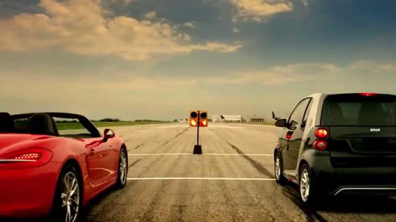 Publicité Smart – la course de dragster électrique