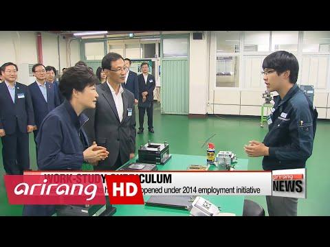 President Park visits apprenticeship school opened under 2014 employment initiative
