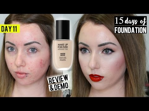 NEW MAKEUP FOR EVER WATERBLEND FOUNDATION Acne/Pale skin {First Impression} 15 DAYS OF FOUNDATION