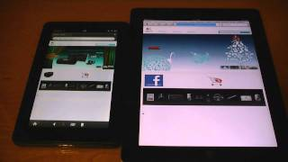 Kindle Fire vs. iPad 2 - WiFi Web Browser Speed Test