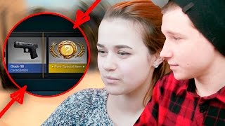 МОЯ ДЕВУШКА ОТКРЫВАЕТ КЕЙСЫ В КС:ГО | MY GIRLFRIEND OPEN CASE IN CS:GO