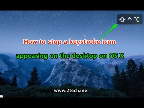 How to stop a keystroke icon appearing on the screen on OS X