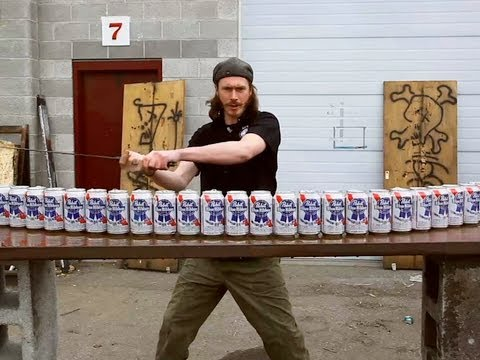 Max Vs 24 Beer Cans - You Have Been Warned