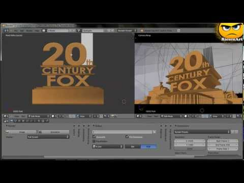 Blender - Eigenes 20th Century Fox Intro Erstellen [deutsch] video