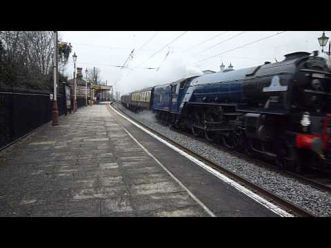 60163 Tornado speeds West past Hanwell. Down-Cathedral's Express. 19-Mar-2013