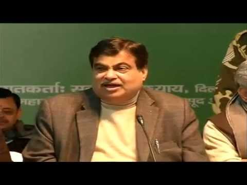 BJP Press Conference by Shri Nitin Gadkari at 14, Pandit Pant Marg, New Delhi: 02.02.2015