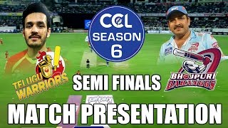 CCL6 - Telugu Warriors vs Bhojpuri Dabanggs - Match Presentation