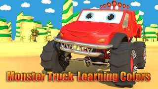 Monte the Monster Truck | Learning Colors | Learn Colors Video For Kids
