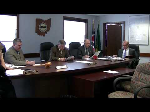 Geauga County Commissioners' Meeting, 1/12/2015