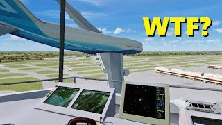 Air Traffic Controller QUITS On The Job - Flight Simulator X (Multiplayer)