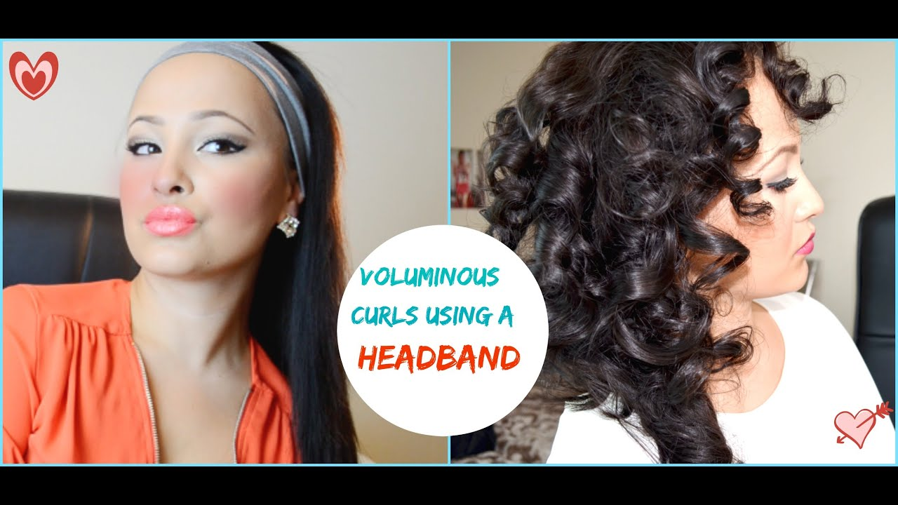 How To Curl Our Hair Using A Head Band Big Voluminous