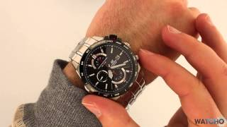 Casio Edifice Watch EFR-520SP-1AVEF Carbon Fibre Chronograph Watch Review