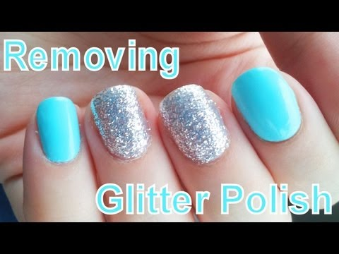 Easy Glitter Polish Removal