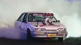 IH8FDS SUPERCHARGED VL COMMODORE AT BURNOUTS UNLEASHED 23.8.2014
