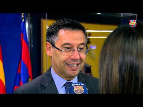 """Josep Maria Bartomeu: """"Messi merece ganar este balón de oro"""""""