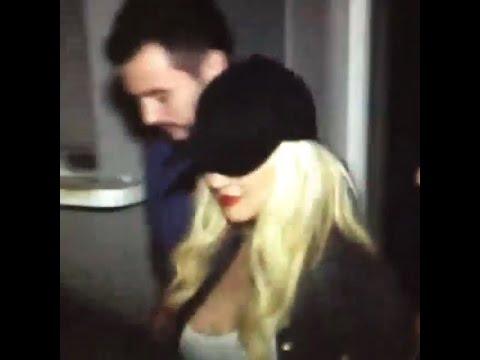 Christina Aguilera leaving The