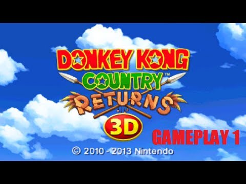 Donkey Kong Country Returns 3D Nintendo 3DS Gameplay 1