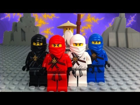 LEGO Ninjago brick film stop motion animation featuring the main stars of Lego Ninjago like Sensei Wu, Lord Garmadon, Red Ninja Kai, White Ninja Zane, Blue N...