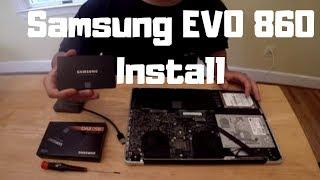 SAMSUNG EVO 860 SSD install with Mac OS HIGH SIERRA (FAST!)