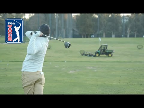 Rory McIlroy's range session at The Genesis Invitational