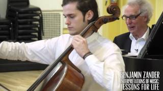 Bach: Cello Suite no. 1 - Prelude (Benjamin Zander - Interpretation Class)