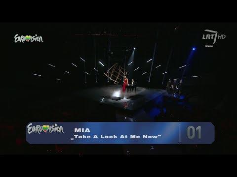 """Mia Atliko Dainą """"take A Look At Me Now Roko Stiliumi  """"eurovizija 2014 (tiesiogiai) video"""