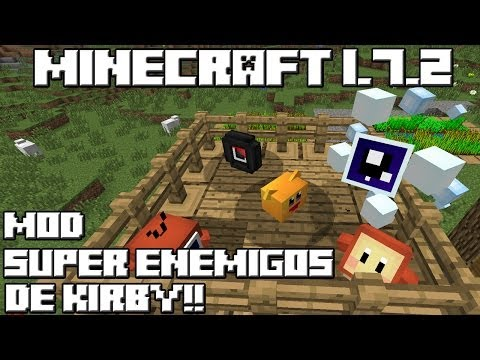 Minecraft 1.7.2 MOD SUPER ENEMIGOS DE KIRBY