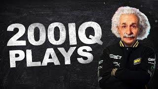 CS:GO - WHEN PROS MAKE GENIUS PLAYS! (200 IQ PLAYS)