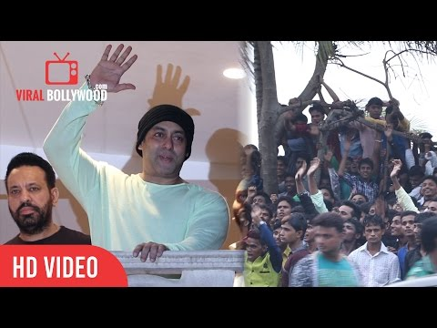 Salman Khan Celebrating EID With Fans | Outside Galaxy Apartment