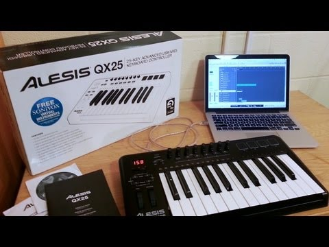 Alesis QX25 Unboxing, First Look, & Hands On (25-Key Advanced MIDI/USB Keyboard Controller)