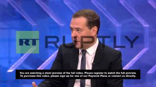 """video M/S Meeting [CUTAWAY] SOT, Dmitri Medvedev, Prime Minister of Russia (Russian): """"You should never underestimate the decisions that are being taken. Actually,..."""