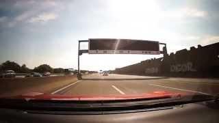 Driving fast on german autobahn no speed limit and overtake