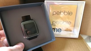 Pebble Time Smartwatch Unboxing