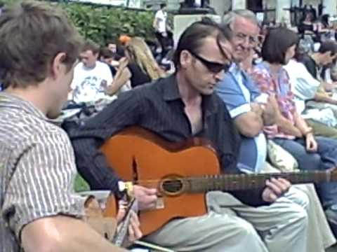 Street Musician Trafalgar Square London Guitar Django Reinhardt