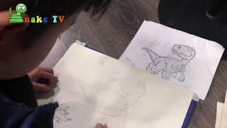 Dạy vẽ miễn phí bé tuấn minh 5 tuổi tự học vẽ