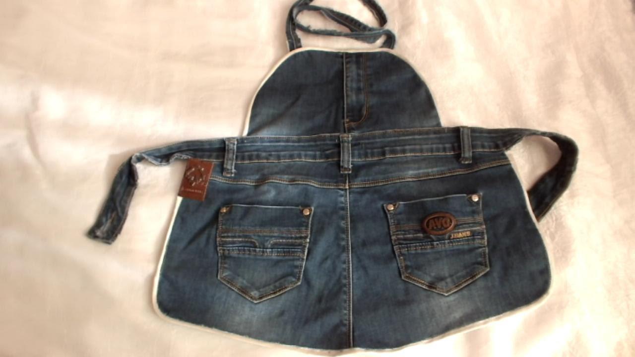 Фартук из старых джинсов своими руками выкройка