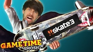 GRINDING POLES IN SKATE 3 (Gametime w/ Smosh Games)