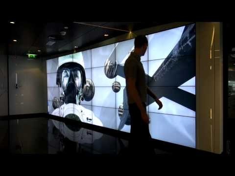 World s largest Kinect driven interactive video wall