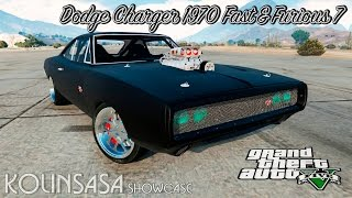 GTA 5 Dodge Charger R/T 1970 Fast & Furious 7