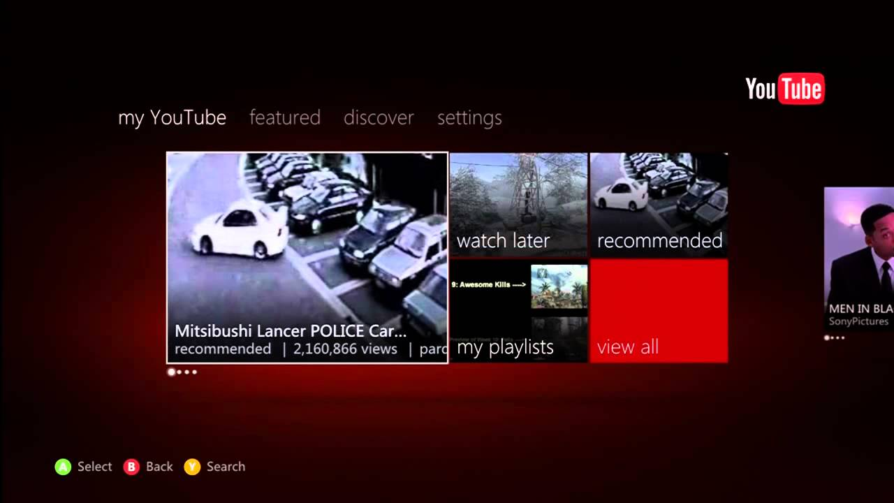 youtube app for xbox 360 tutorial   review   how to use