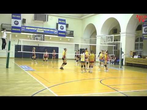 Mecz Ligi Siatkówki Kadetek MOS Wola - WRZOS Międzyborów 21 11  2011 Skrót