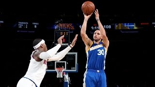 Stephen Curry Enters Top 10 All Time 3s, Passes Billups! Warriors vs Knicks