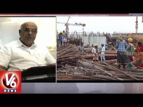 TS GENCO CMD Prabhakar Rao Inspects Bhadradri Thermal Power Station | V6 News