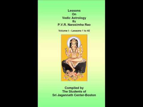 vedic astrology by p.v.narashima rao lesson 6 of 208