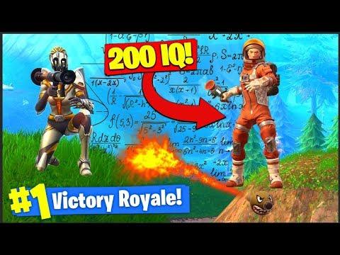Getting A 200 IQ *WIN* In Fortnite Battle Royale